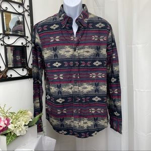 American Eagle Trival Flannel button down Shirt L